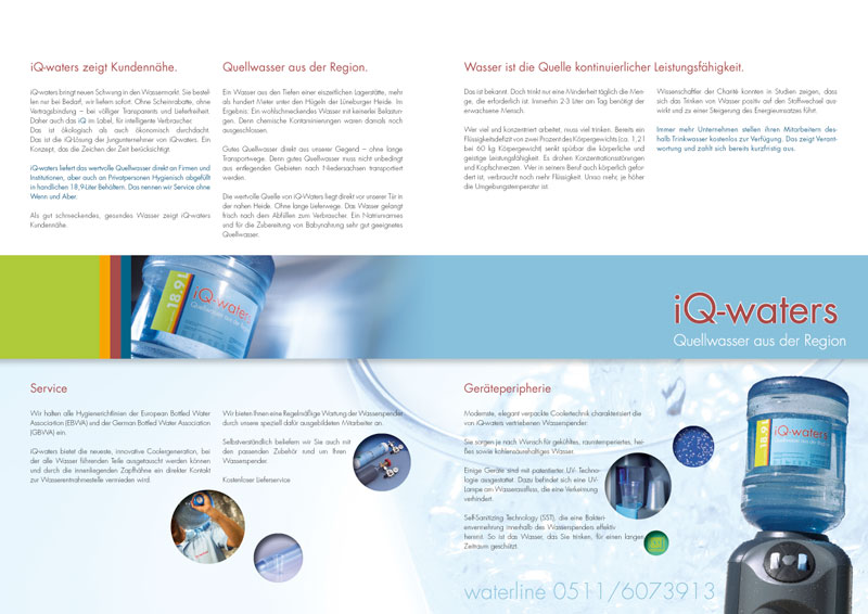 Broschüre, iQ-waters