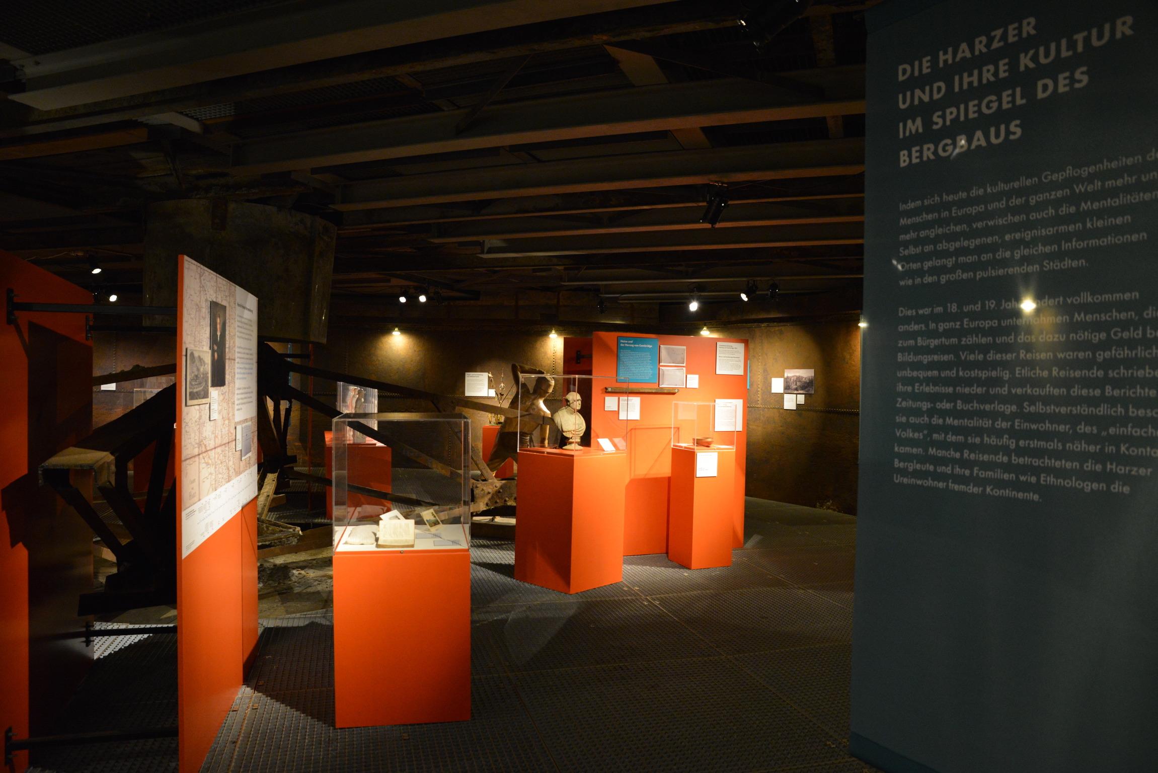 """Ausstellungsgestaltung, Sonderausstellung """"Montantourismus im Harz"""", Rammelsberg, 2021"""