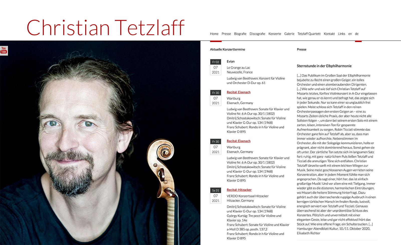 "Design, Website ""Christian Tetzlaff"""